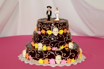 Bob and Anas Calavera Wedding Cake
