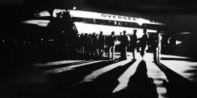 1960s - Vietnam bound troops boarding an Overseas National Airways DC-8