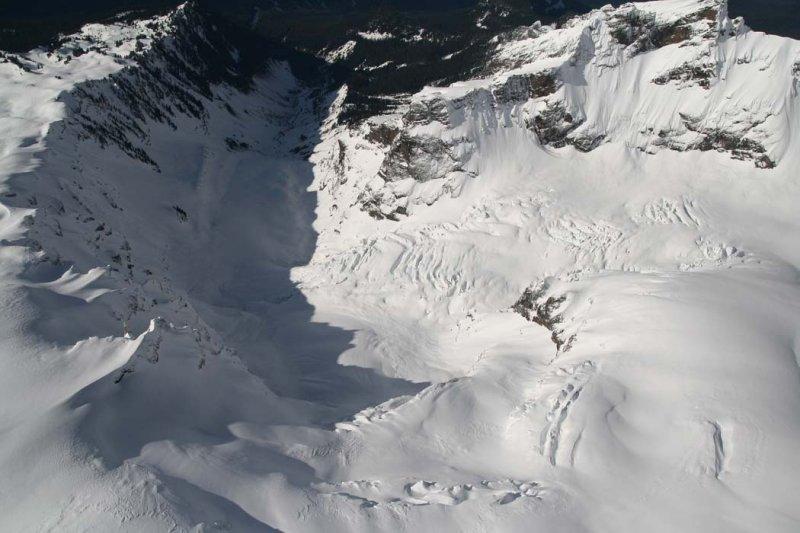 View Down Deming Glacier <br>(MtBaker021707-_25.jpg)
