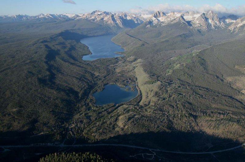 Redfish & Lower Redfish Lakes, View SW <br>(Sawtooth061707-836.jpg)