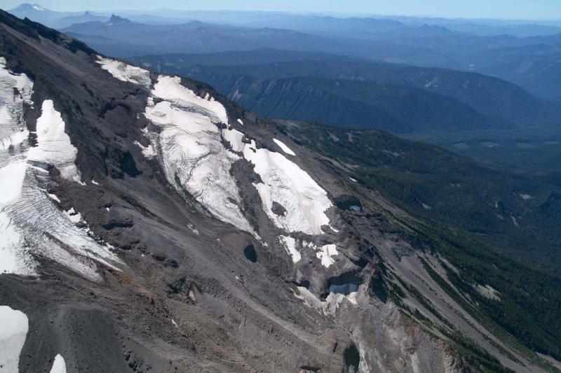 Russell Glacier (R) & Jefferson Park Glacier (L), View S <br> (Jefferson082807-_194.jpg)