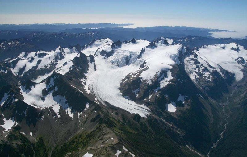 Blue Glacier & Olympus, View SW <br>(OlympicNP091307-11adj.jpg)