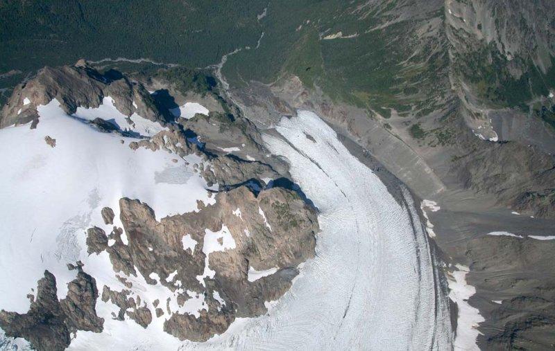 Blue Glacier, View NW Down Glacier <br> (OlympicNP091307-37adj.jpg)