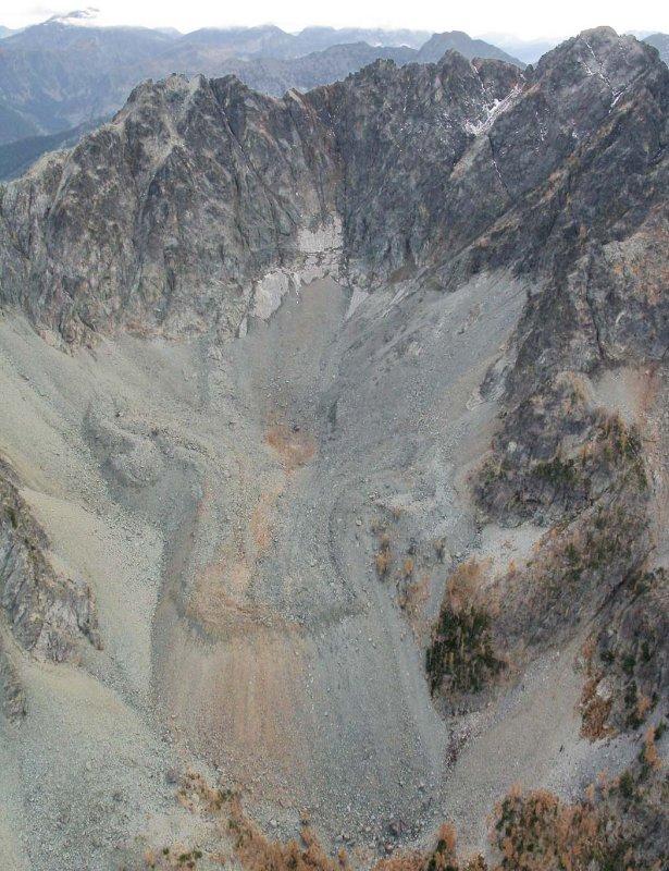 Gilbert, N Face Rock Glacier & Glacier Remnant <br>(Gilbert102105-06adj2.jpg)
