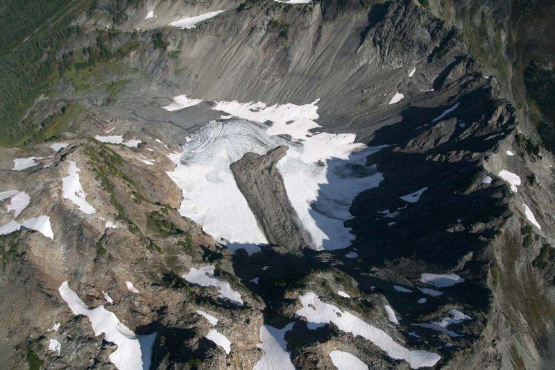 White Mountain Glacier, View N Down Glacier <br> (ONP092607-_228.jpg)