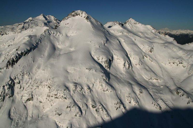 L to R:  Glacier Pk (Background), Napeequa, Pt 7529 <br> (Napeequa120807-_10.jpg)