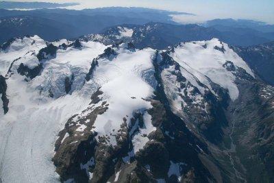 Blue Glacier (L), Olympus, Snow Dome, White Glacer (R), View SW <br> (OlympicNP091307-44adj.jpg)