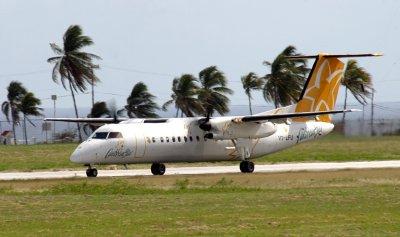 Carribean Star Dash-8 taking off, Barbados