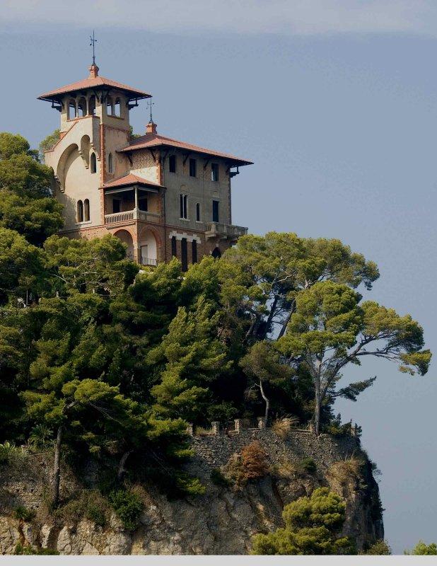 Villa over harbour at Portofino Italy