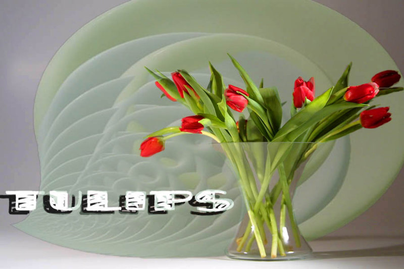Art Deco tulips