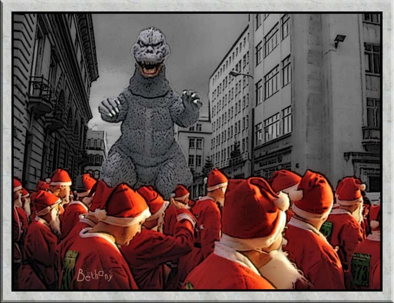 Godzilla meets his match