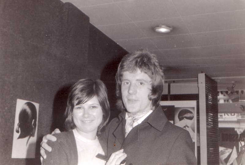 Ann Champion was a teacher and David Marshall. who was  one of Sassoons youngest ever managers. 171 New Bond st. Salon