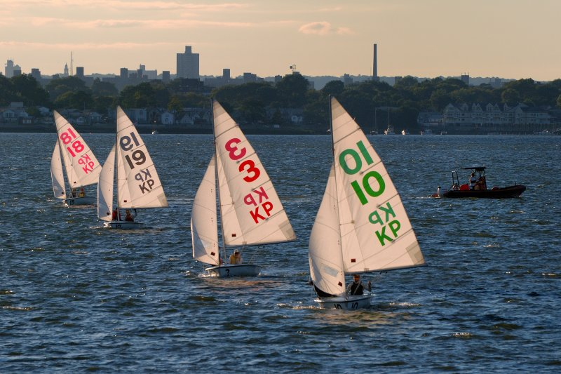 Merchant Marine Academy Cadets In Their Dinghies