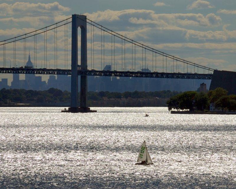 Throgs Neck Bridge & Manhattan Skyline from the US MMA