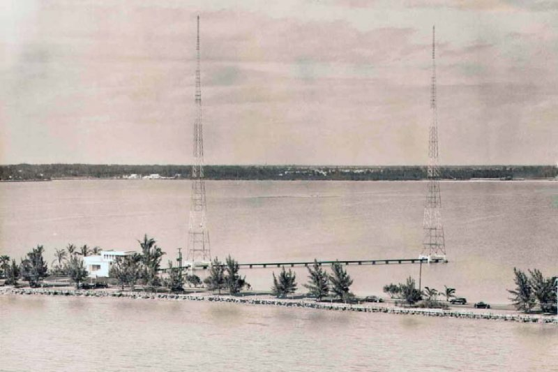 1953 - WIOD-AM (later WCKR-AM and back to WIOD) radio broadcast towers off 79th Street Causeway