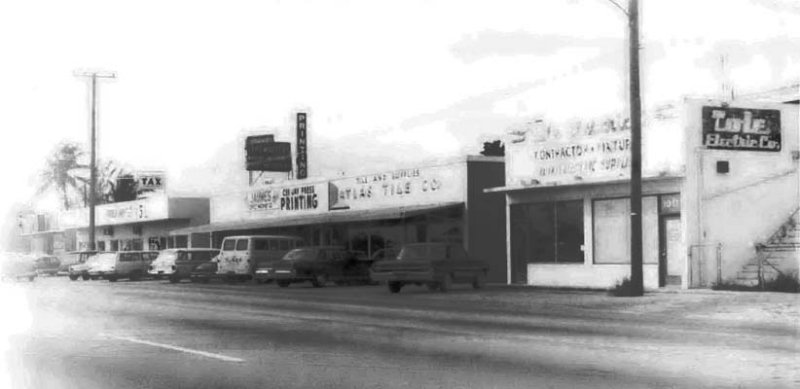 1966 - Tole Electric, Atlas Stile and businesses on NW 119th Street between 10th and 11th Avenues Miami