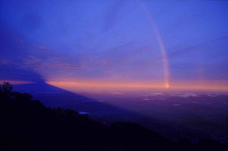 Shadow of Mt. Kinabalu.