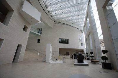 atrium of the Jepson Center for the Arts in Savannah, GA