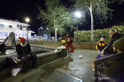busker and fellow