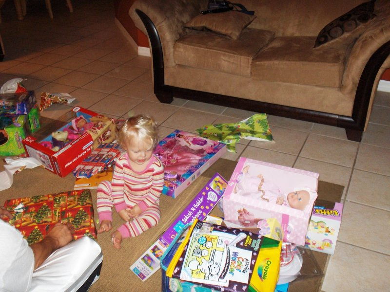 Annie and her presents