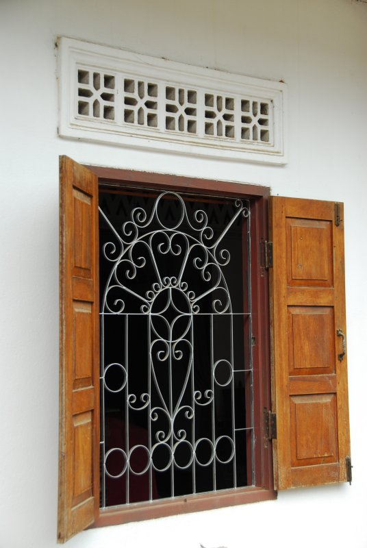 Luang Prabang Window with Grill