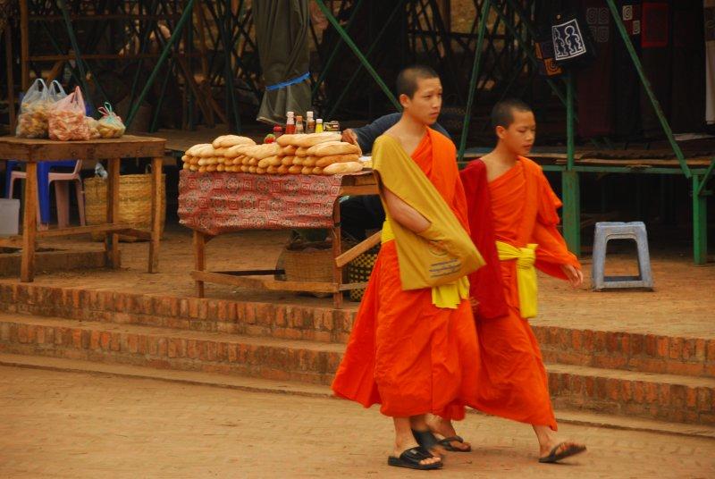Monks, Market, Morning
