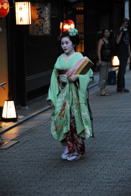 Hurrying in Gion