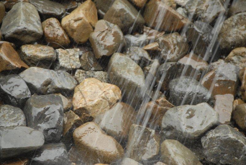 Rain on Rocks