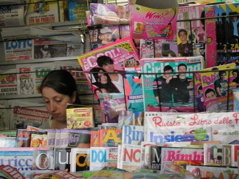 the newspaper vendor