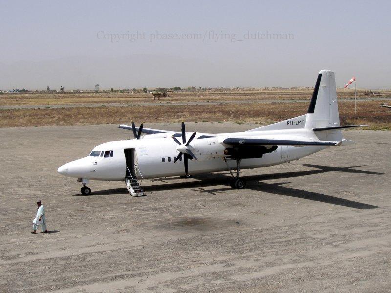 Our Fokker on Kunduz, Afghanistan