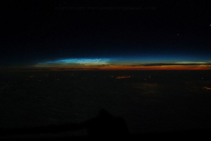 Midnight above Europe in summertime