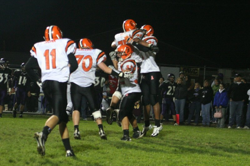 tyler and nick celebrate td