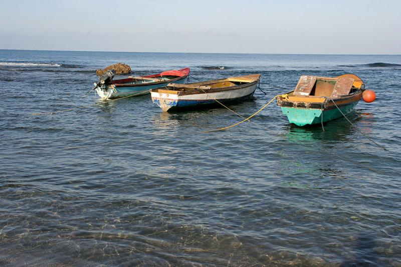 Fishing boats at Calabash Bay