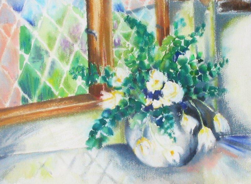 Flowers by Kitchen Window (Montys Favorite)