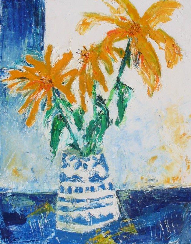 Sunflowers in vase £290