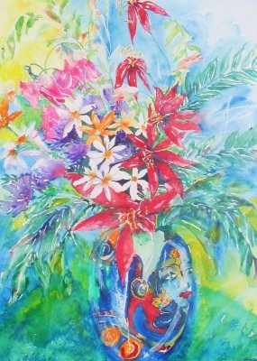 Mexican Flowers £225 with frame