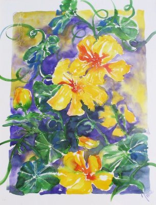 Yellow Flowers £300 inc frame