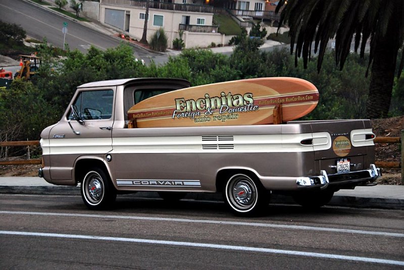 Parked on the street, obviously not a woodie
