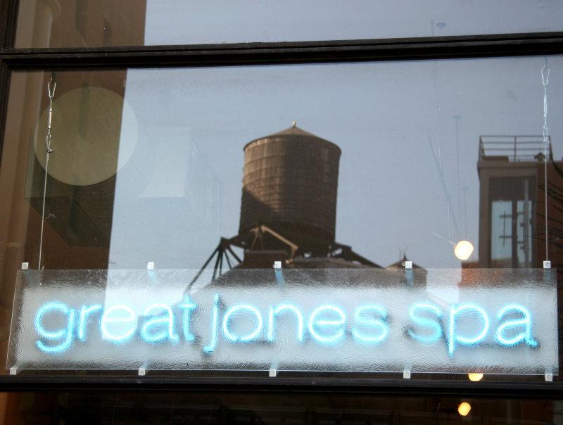 Great Jones Spa Window Reflection