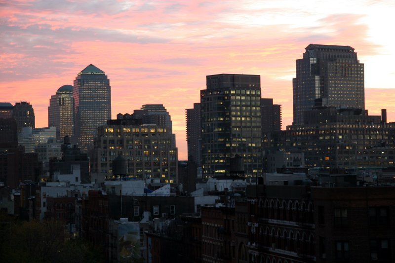 Downtown Manhattan at Sundown