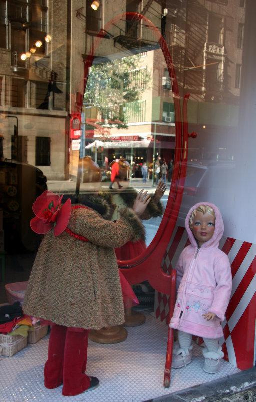 Reflections in a Window & Mirror - Ibiza Kids Window