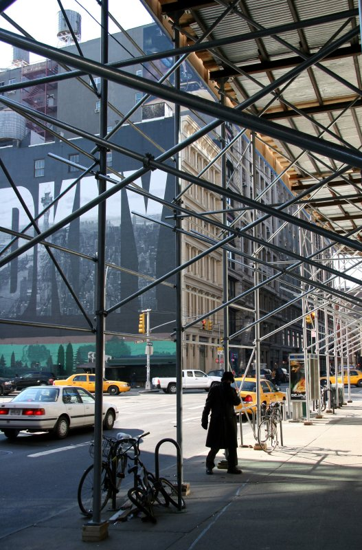 Ubiquitous Scaffolding on NYC Streets