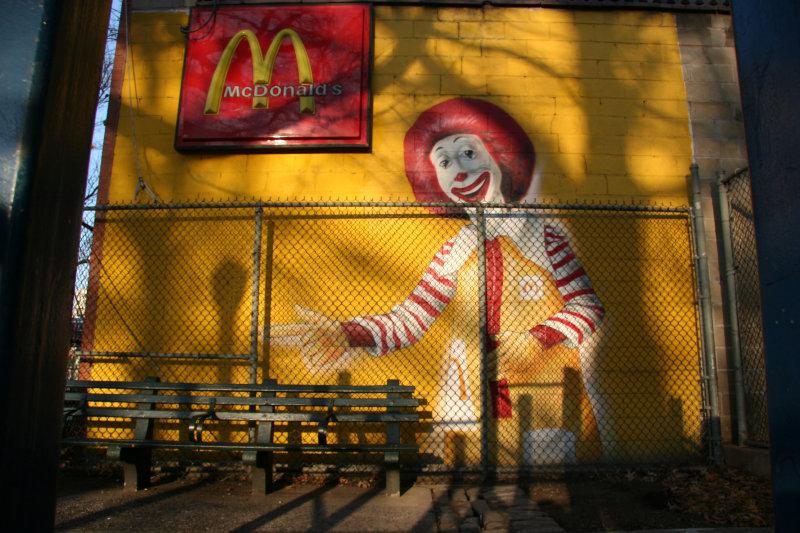Minetta Lane Park - McDonalds Invitation to Have a Seat