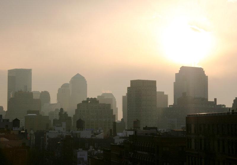 Downtown Manhattan - Afternoon Sun & Mist