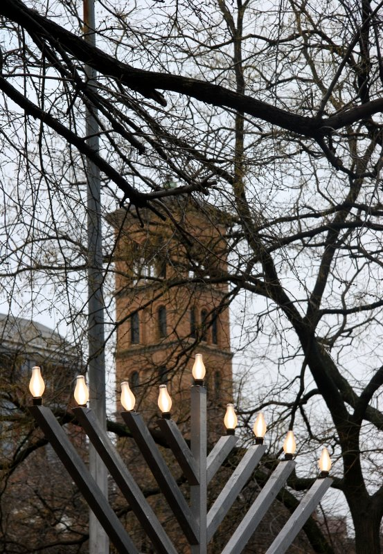 Menorah, Bell Tower & NYU Law School