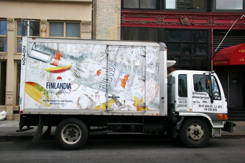 Finlandia Vodka Delivery Truck