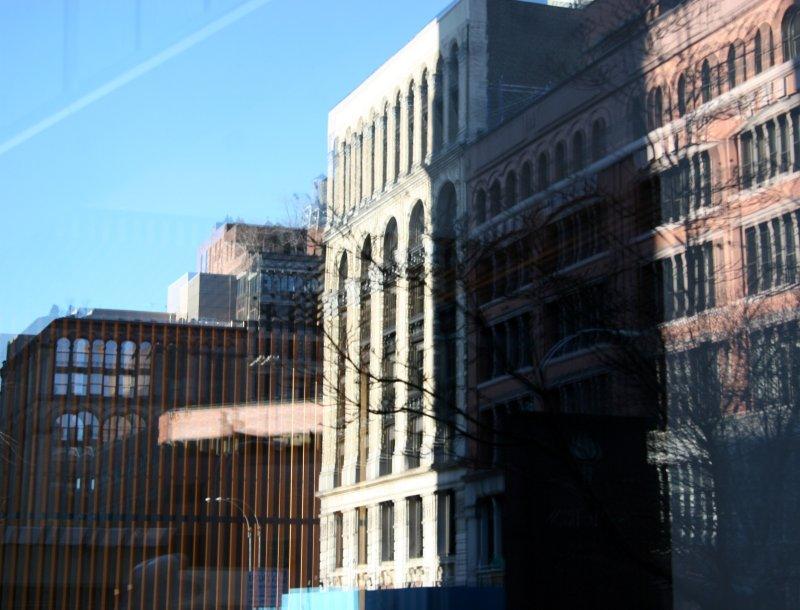 West 4th Street Reflection from NYU Business School Window