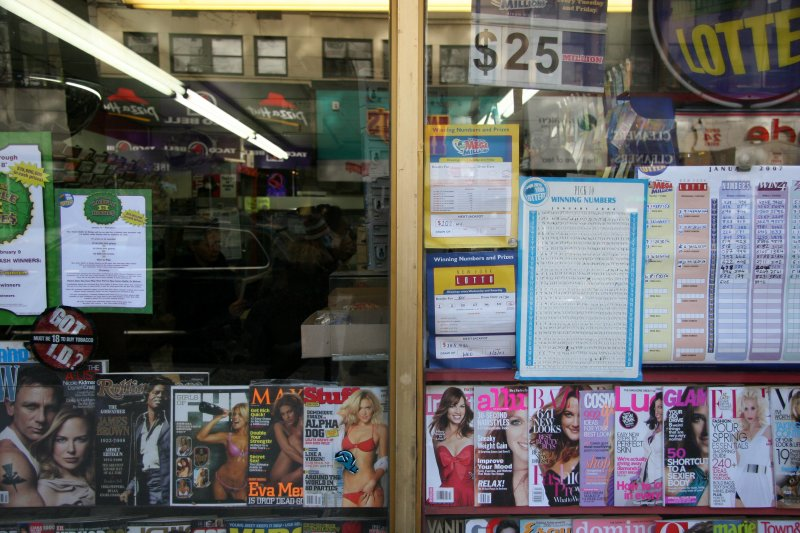 Convenience & Lottery Store Window
