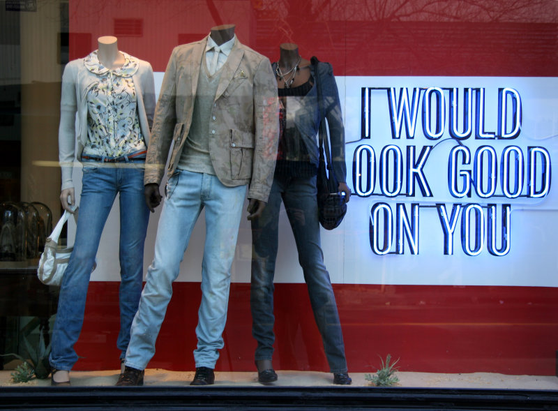 Diesel Clothing Store Window at University Place
