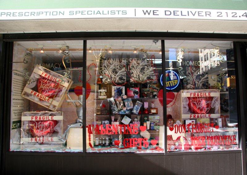 Pharmacy Valentine Window